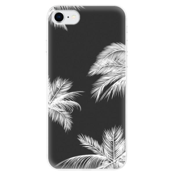 Odolné silikonové pouzdro iSaprio - White Palm - iPhone SE 2020