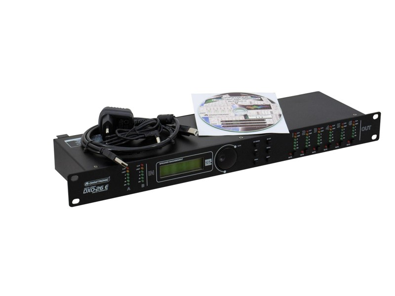 Omnitronic DXO-26E, digitální výhybka