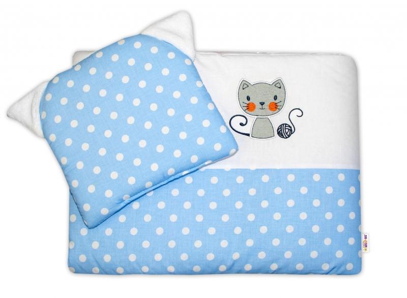 Dětská sada do kočárku Baby Nellys ® Cat - bubble modrá