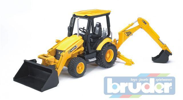 BRUDER 02427 (2427) Traktor JCB MIDI - čelní nakladač + bagr