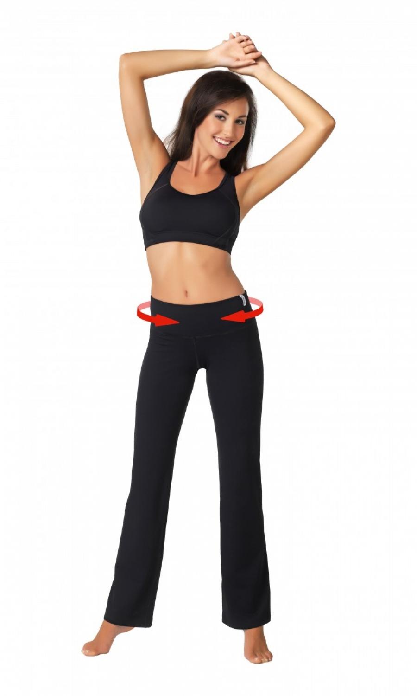 Fitness kalhoty Slimming pants colorado - Černá/L