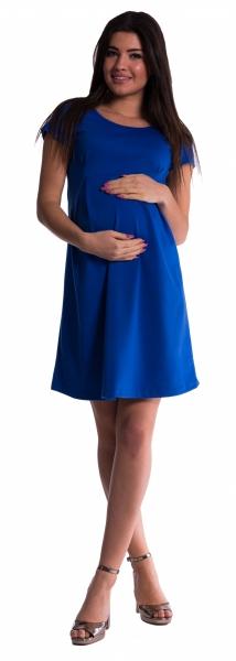 Be MaaMaa Těhotenské šaty - tm. modré