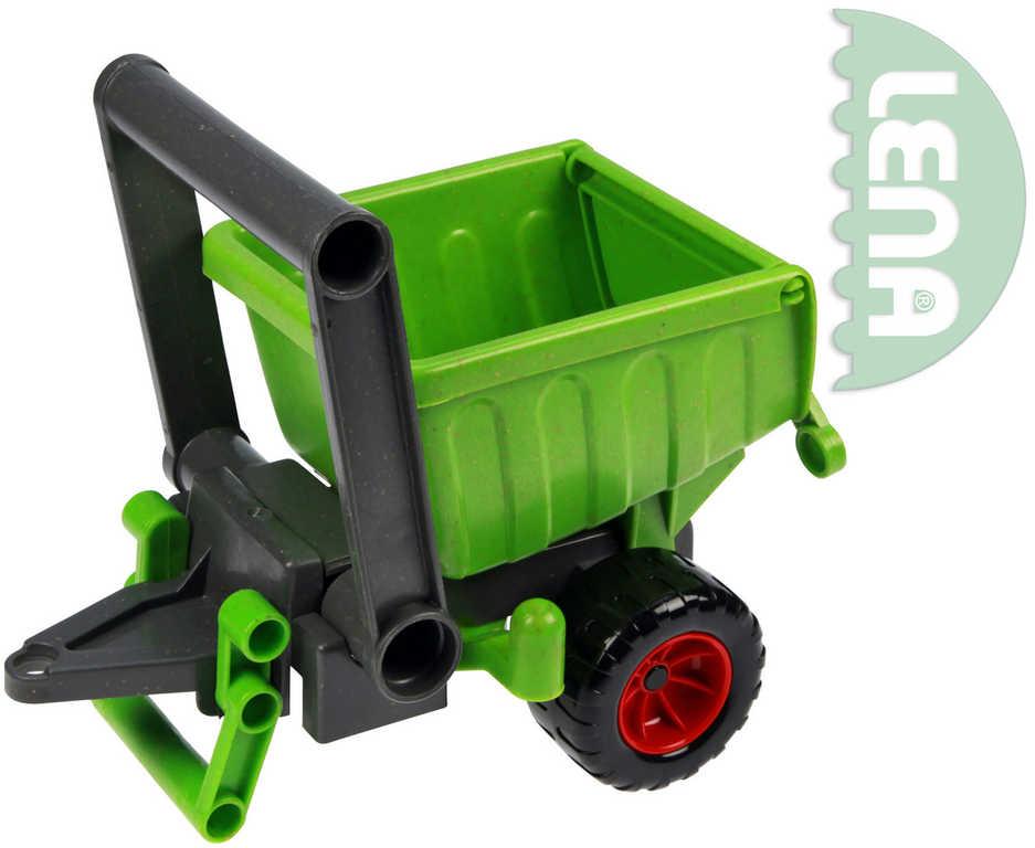 LENA Eco aktivní přívěs plastová zelená vlečka 20cm 4214