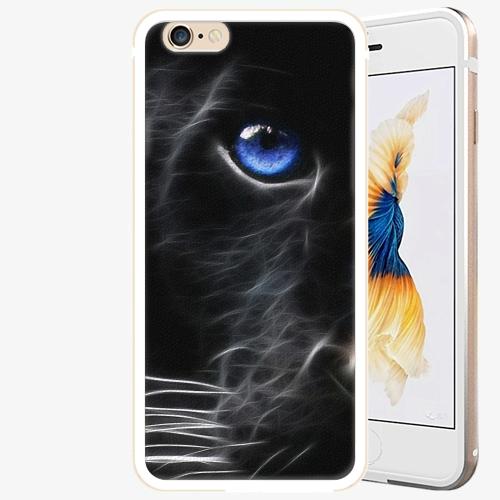Plastový kryt iSaprio - Black Puma - iPhone 6/6S - Gold