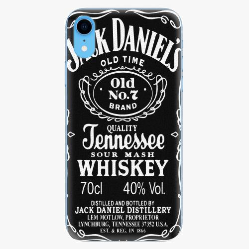 Silikonové pouzdro iSaprio - Jack Daniels - iPhone XR