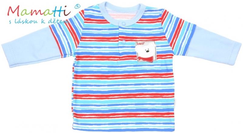 polo-tricko-dlouhy-rukav-mamatti-zebra-sv-modre-barevne-pruzky-92-18-24m