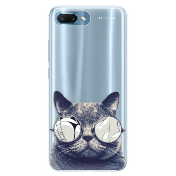 Silikonové pouzdro iSaprio - Crazy Cat 01 - Huawei Honor 10