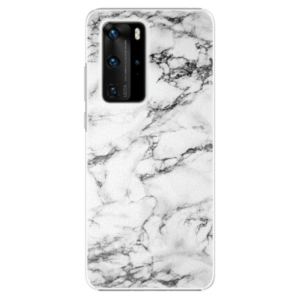Plastové pouzdro iSaprio - White Marble 01 - Huawei P40 Pro