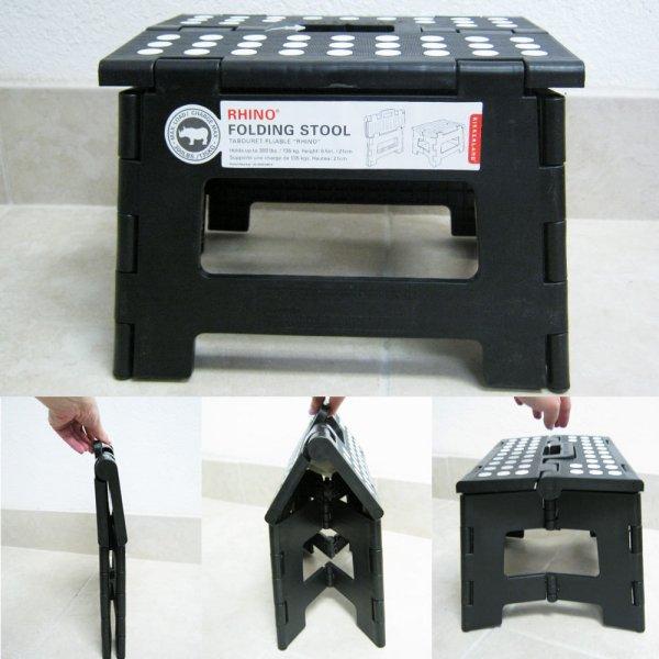 Skládací stolička - černá