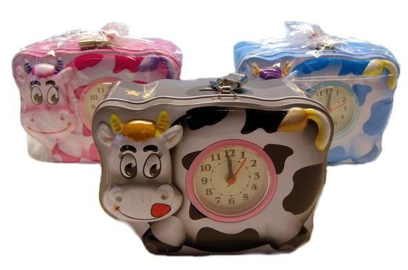 Pokladnička (kasička) KRÁVA s hodinama