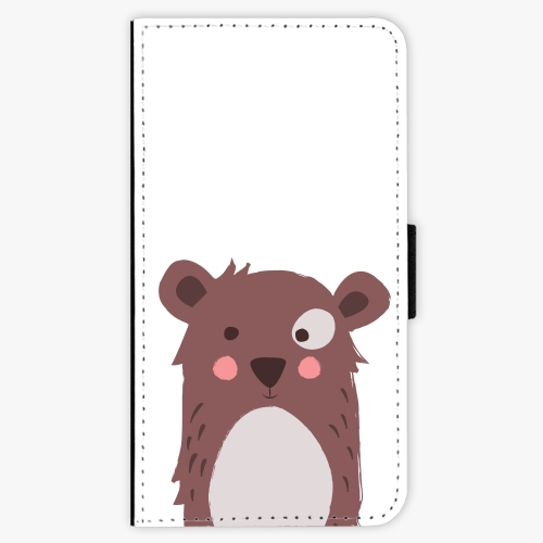 Flipové pouzdro iSaprio - Brown Bear - Samsung Galaxy J1 2016