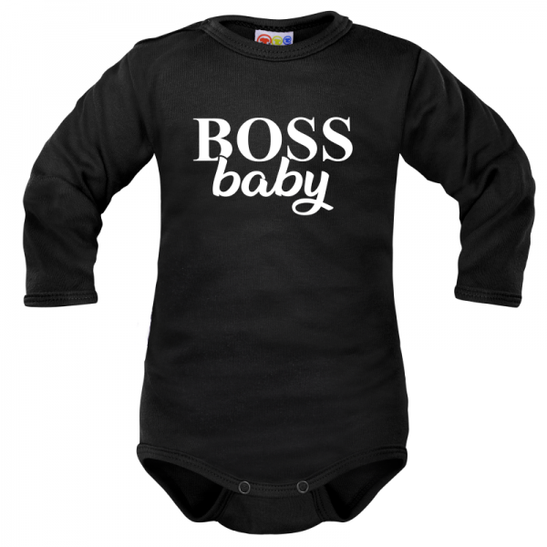 body-dlouhy-rukav-dejna-boss-baby-cerne-vel-74-74-6-9m