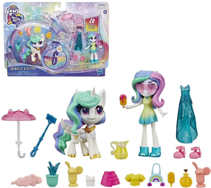 HASBRO MLP My Little Pony Equestria set poník + princezna Celestia s doplňky