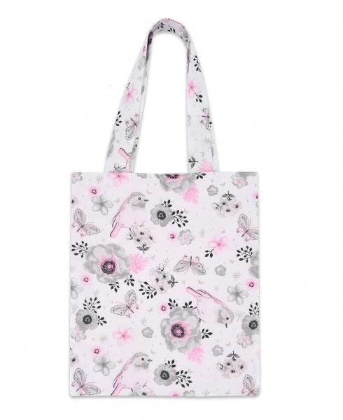 Bavlněná taška Baby Nellys Mini pro děti - Ptáčci růžoví