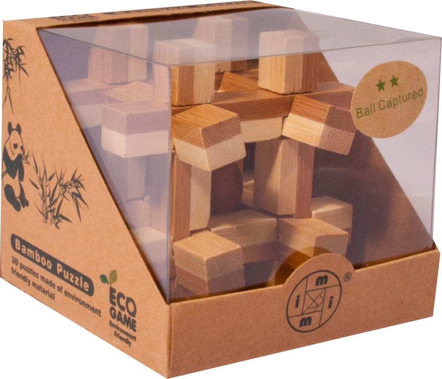 Bambusový - hlavolam - Klec