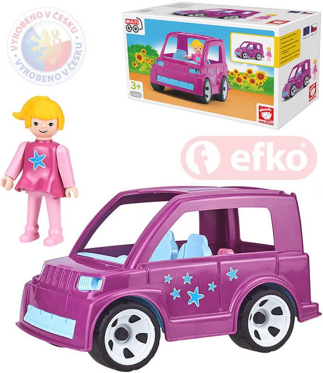 EFKO IGRÁČEK MultiGO Auto Pinky Star set s figurkou