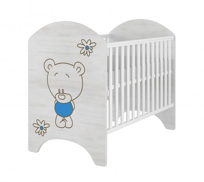 babyboo-detska-postylka-lux-s-vyrezem-medvidek-kvetinka-modra-120x60cm