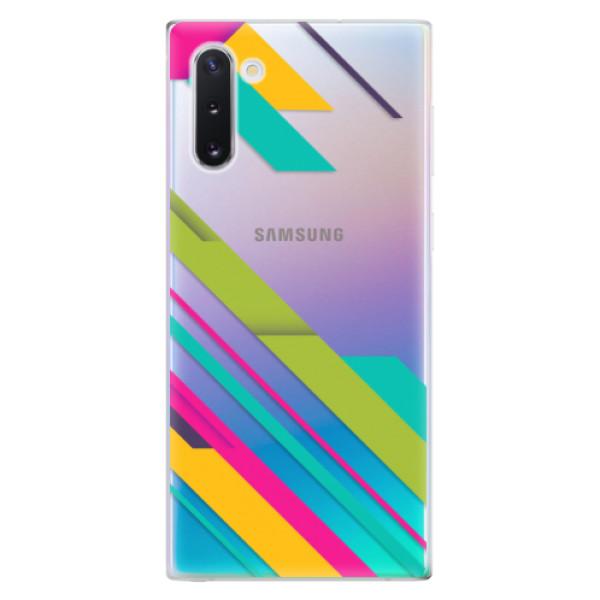 Odolné silikonové pouzdro iSaprio - Color Stripes 03 - Samsung Galaxy Note 10