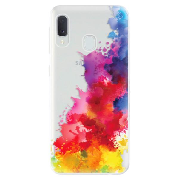 Odolné silikonové pouzdro iSaprio - Color Splash 01 - Samsung Galaxy A20e