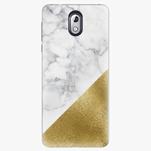 Plastový kryt iSaprio - Gold and WH Marble - Nokia 3.1