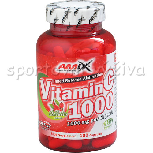 Vitamin C 1000mg + Rose Hips 100 kapslí