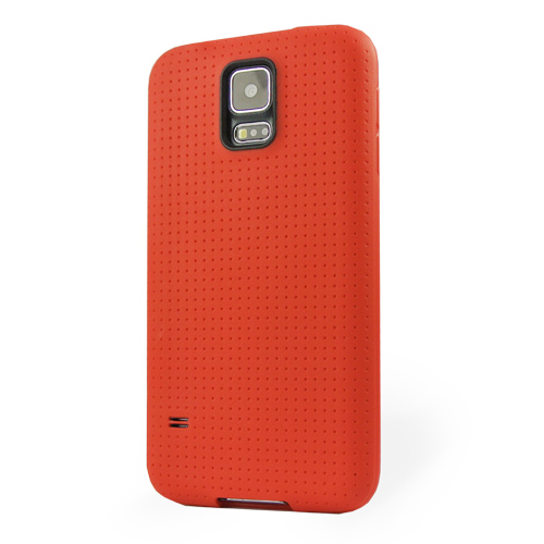 Pružný kryt / pouzdro Dotted pro Galaxy S5 červený