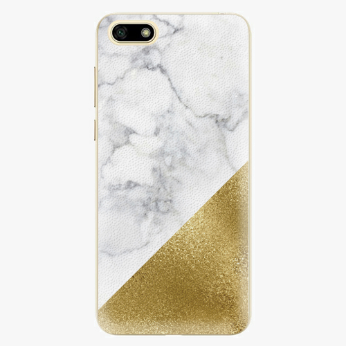 Silikonové pouzdro iSaprio - Gold and WH Marble - Huawei Y5 2018