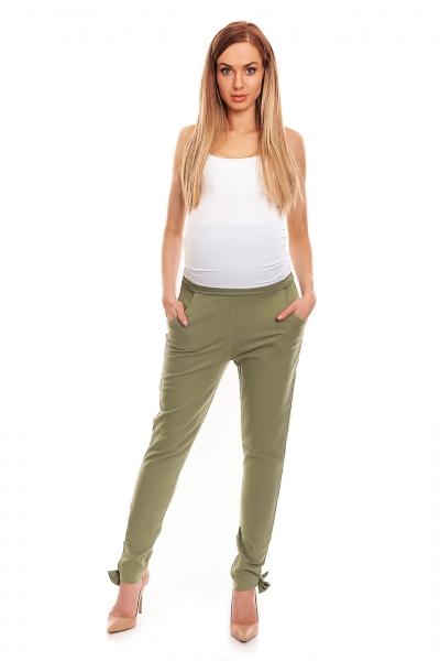 Be MaaMaa Těhotenské, bavlněné kalhoty/tepláky s pružným pásem