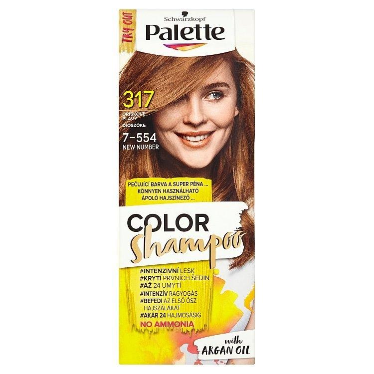 Schwarzkopf Color Shampoo barva na vlasy Oříškově plavý 317 (7-554)