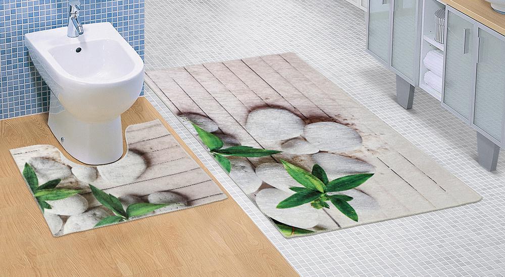 Koupelnová sada předložek 3D 60x100+60x50cm Jadran