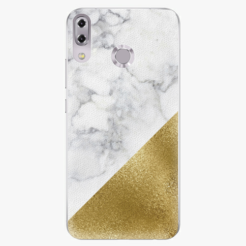 Plastový kryt iSaprio - Gold and WH Marble - Asus ZenFone 5 ZE620KL