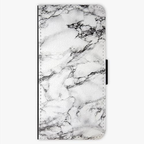 Flipové pouzdro iSaprio - White Marble 01 - Samsung Galaxy S7 Edge
