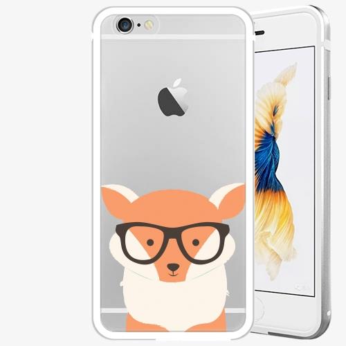 Plastový kryt iSaprio - Orange Fox - iPhone 6/6S - Silver