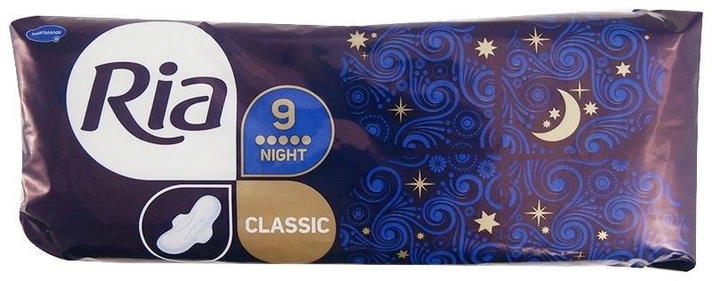 Classic Night dlouhé dámské vložky s křidélky 9 ks/bal.