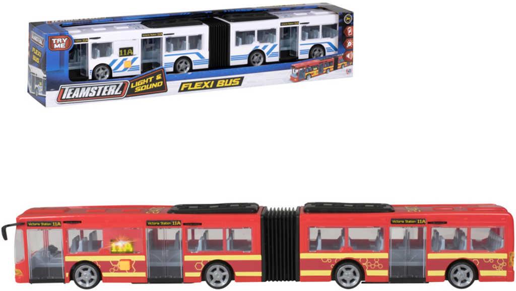 Teamsterz autobus kloubový 46cm na baterie různé barvy