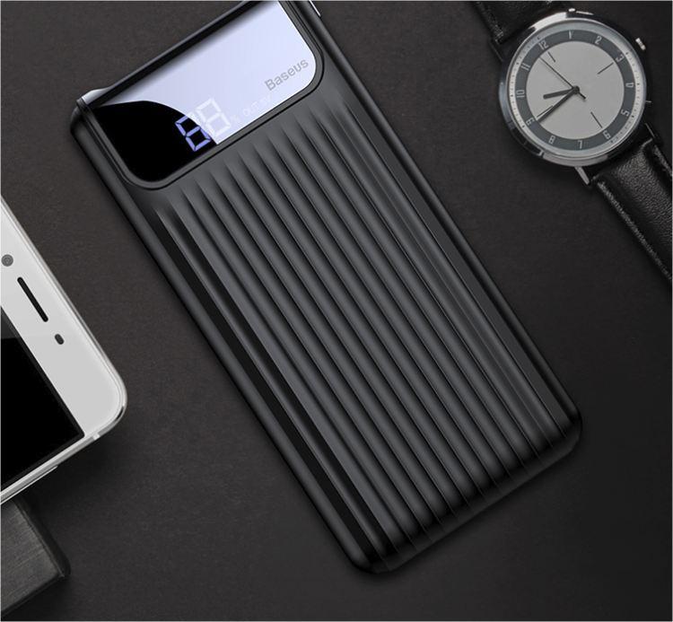 LCD powerbanka Wave - Černá
