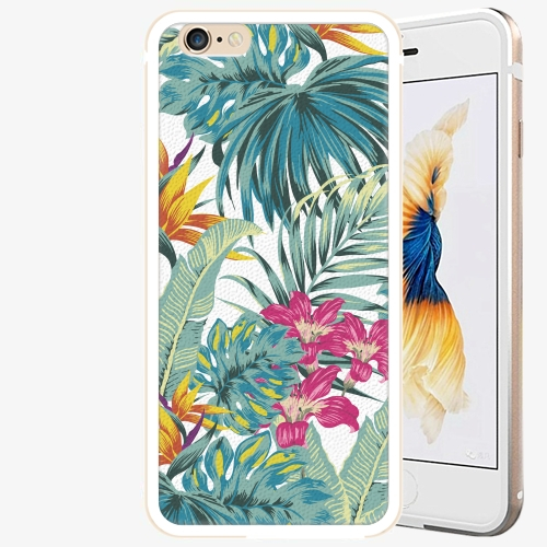 Plastový kryt iSaprio - Tropical White 03 - iPhone 6/6S - Gold