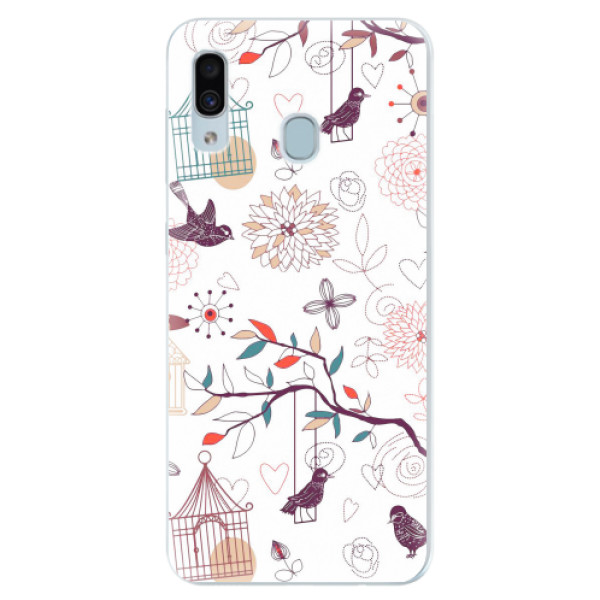 Silikonové pouzdro iSaprio - Birds - Samsung Galaxy A30