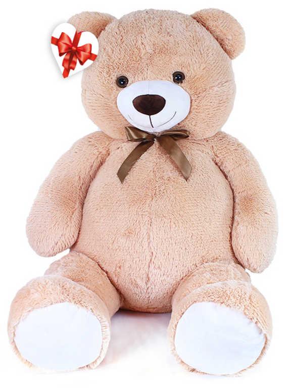 PLYŠ Medvěd Felix velký 150cm béžový s mašličkou s věnováním *PLYŠOVÉ HRAČKY*