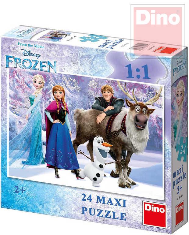 DINO Puzzle Frozen (Ledové Království) 66x47cm 24 dílků skládačka v krabici
