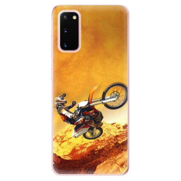 Odolné silikonové pouzdro iSaprio - Motocross - Samsung Galaxy S20