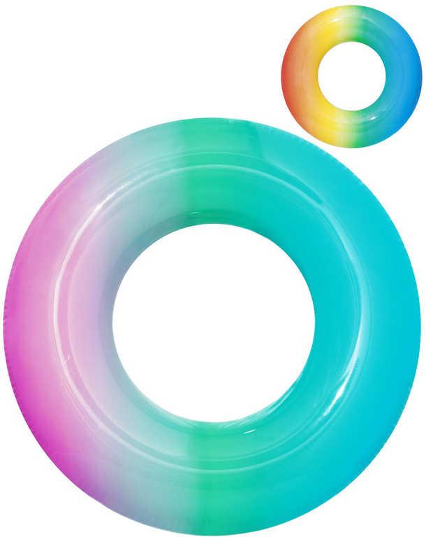 BESTWAY Kruh nafukovací duhový 91cm plavací kolo do vody 2 barvy 36126