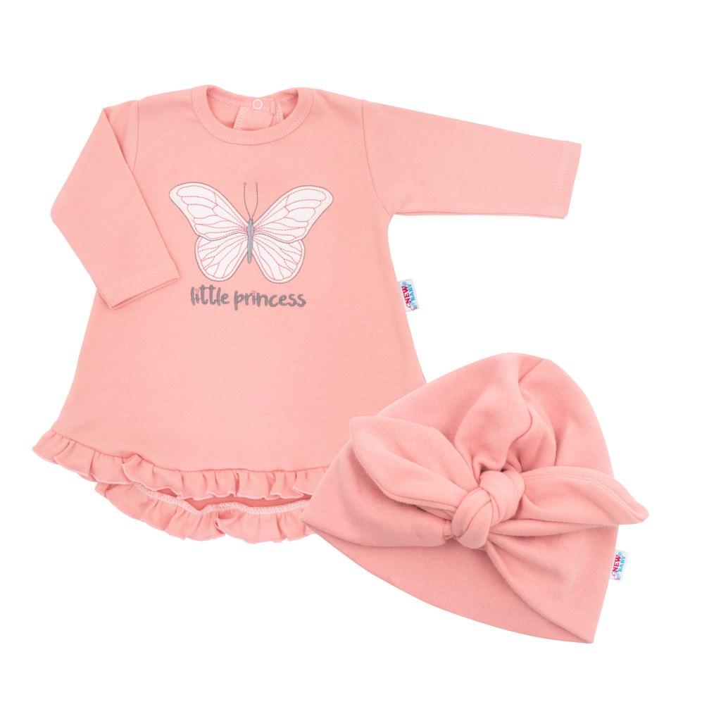 Kojenecké šatičky s čepičkou-turban New Baby Little Princess