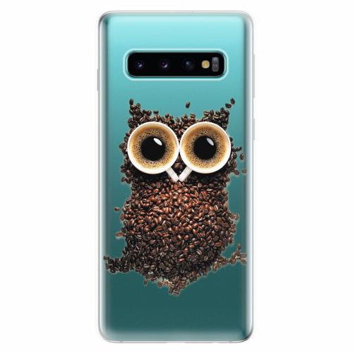 Silikonové pouzdro iSaprio - Owl And Coffee - Samsung Galaxy S10