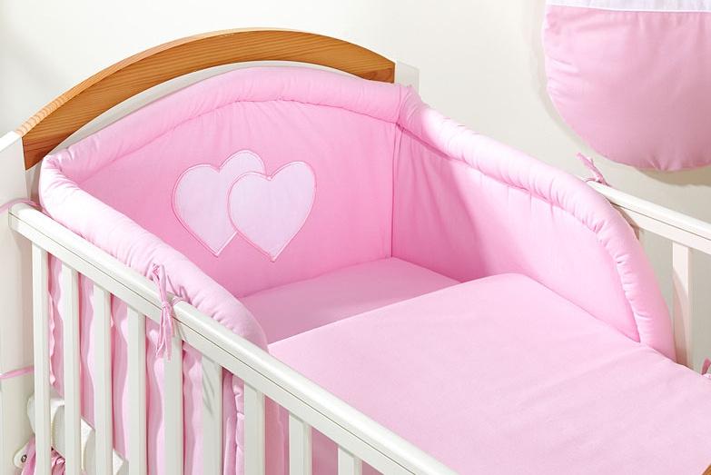 Bavlněné povlečení Srdíčko růžové - 120x90