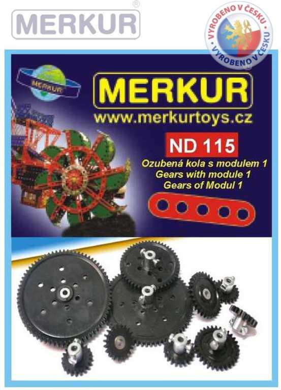 MERKUR ND115 Ozubená kola modul 1 náhradní díly pro stavebnice