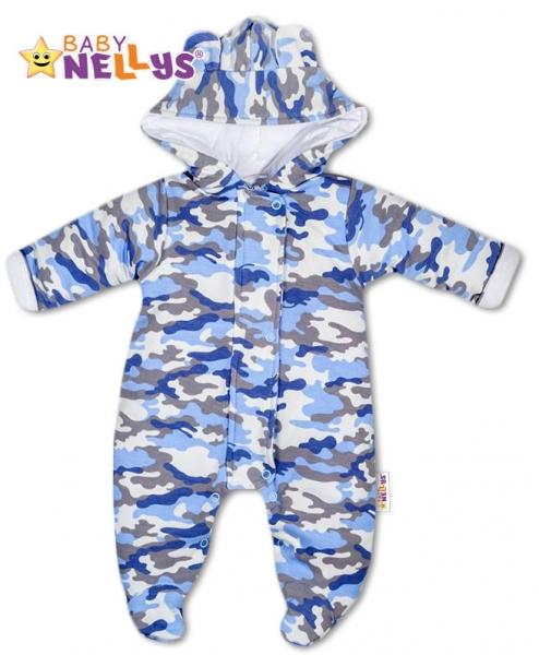 kombinezka-s-kapuci-a-ousky-army-baby-nellys-maskac-blue-56-1-2m