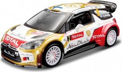 BBURAGO Auto kovové 1:32 Citroen DS 3 No.2 M. Hirvonen WRC Team 2013