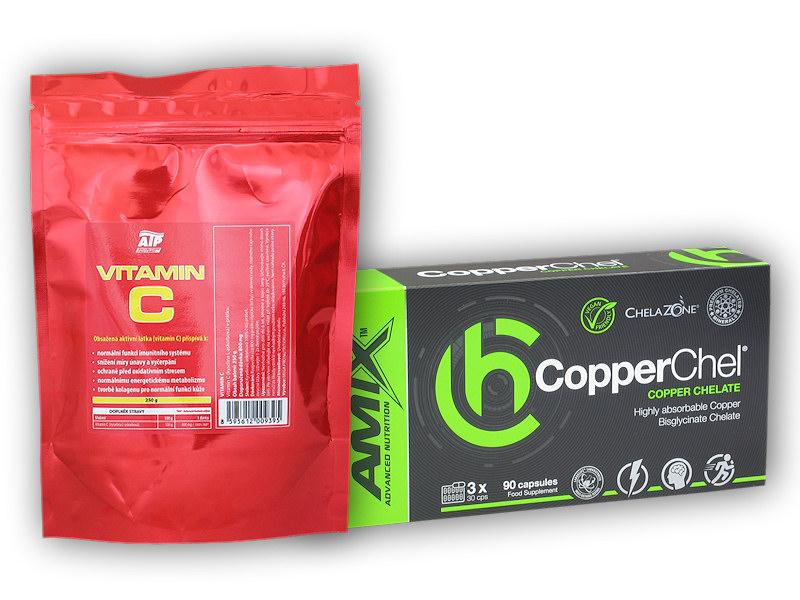 CopperChel 90 Vcps + Vitamin C 250g