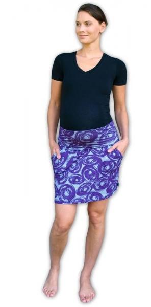 JOŽÁNEK Letní těhotenská sukně s kapsami - vzor č. 01 - L/XL - L/XL